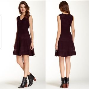 BB Dakota Aubergine Otis Knit Dress